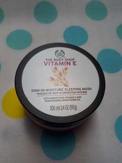 The Body Shop Vitamin E Sink-In Moisture Sleeping Mask Share in Jar