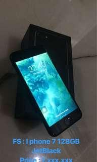I phone 7 128GB Jet Black Full Set Mulus