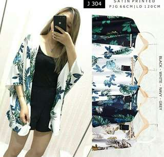 J304 Women Leaf Blazer Outwear