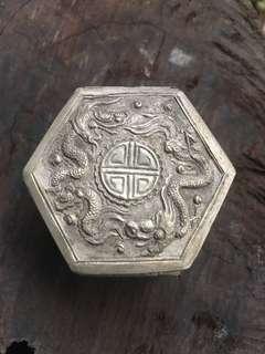 Dragon silver repousse jewellery box
