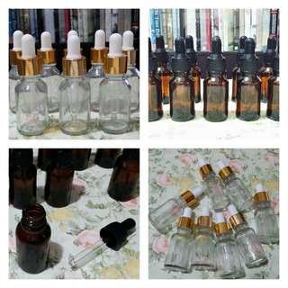 Set of 18 Glass Bottles (with droppers, for beauty serum, perfume, etc.)