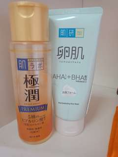 Hada Labo Face Wash and moisturizer