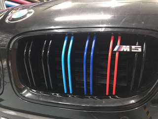 Bmw grill strip mperformance color wrap