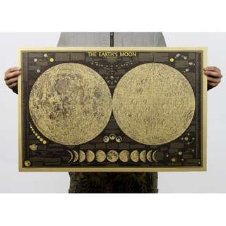 🌕️🌖️🌗🌘Vintage Moon Map🌒🌓🌔🌕️