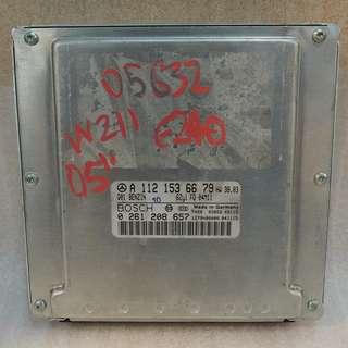 MERCEDES BENZ W211 E240 2005 ENGINE CONTROL UNIT ECU A1121536679 #1142