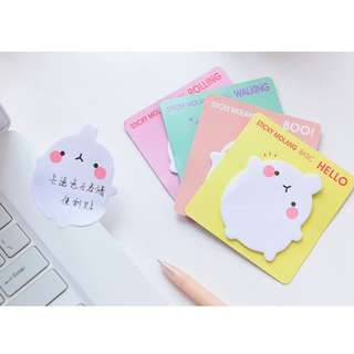 Cute Adorable Sticky Post It Pad