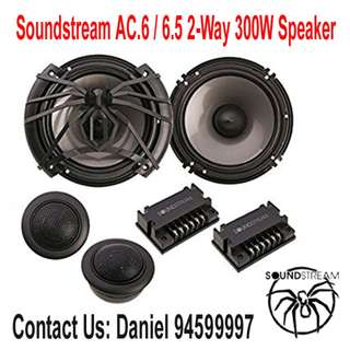 Soundstream AC.6 Arachnid Component 6.5 2-Way 300W Speaker Set