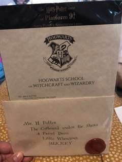 Authentic Harry Potter Hogwarts Acceptance Letter