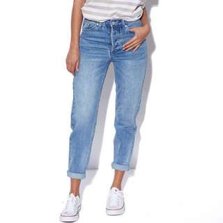 Assembly High Waist Denim Jean | Size AU6 Mum jeans