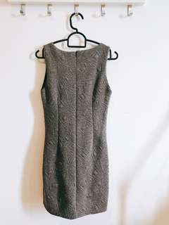 Office Formal Grey Body contour dress