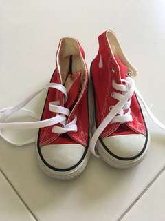 Authentic Red Converse Shoes for children (unisex)