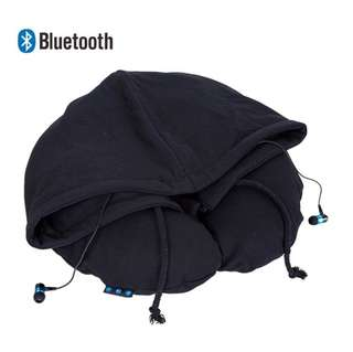Bluetooth Travel Pillow-Inflatable U Shape Strong Support, Top Quality Bluetooth Earphones, Calls Music Synchronized, Oversized Hoodie