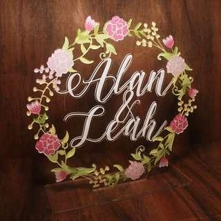 Wedding Floral Sign