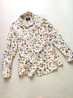 🚚 日本製 專櫃品牌HMT花襯衫 長袖