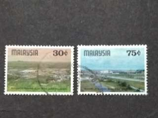 Malaysia 1978 Inauguration Of Shah Alam New Town Loose Set Short Of 10c - 2v Used Stamps