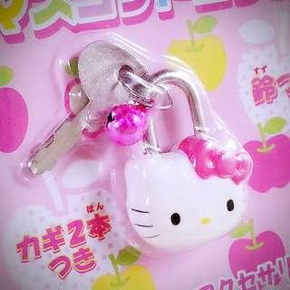 Hello Kitty  (ハローキティ) 空運直送 日本限定 公仔頭型鎖頭連兩條鎖匙 002452