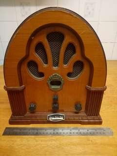 Radio kayu besar antik 60an