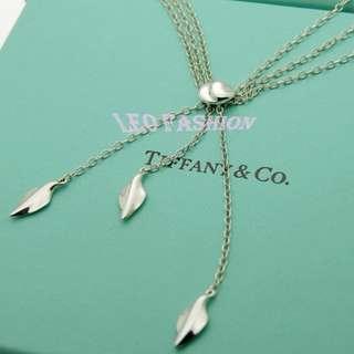 🚚 【LEO FASHION】二手正美品 Tiffany & Co. 三瓣三鍊典雅垂墜項鍊