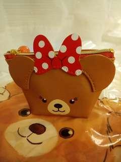 日本迪士尼 大學熊造型零錢包
