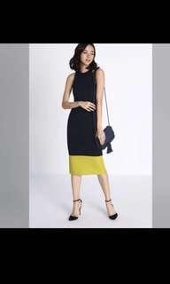 Love Bonito - Madena Contrast Midi Dress