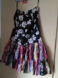 Preloved customized floral skirt