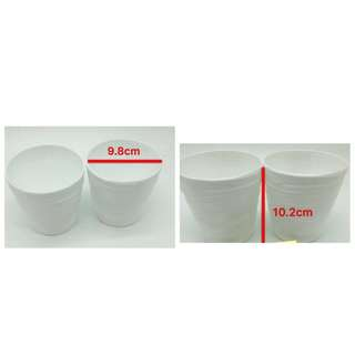 white plastic vase