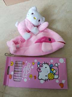 Brand new Hello Kitty Pencil Case and 12 Pcs Long colour pencils