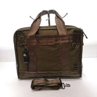 Porter International Military Green Nylon Laptop Bag