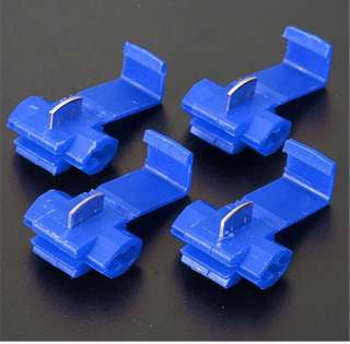 Car Wire terminals quick wiring connector cable clamp AWG14~18  Automation Blue (10Pcs)