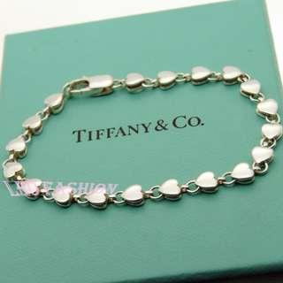🚚 【LEO FASHION】二手正美品  Tiffany&Co. 鏤空愛心串連手鍊