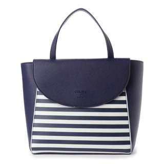 Japan Samantha Thavasa Colors By Jennifer Sky Border Handbag Bag (Navy)