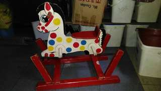 Wooden horse riding