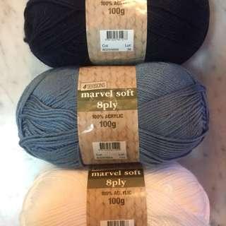 Wool Acrylic Marvel Soft 8 Ply