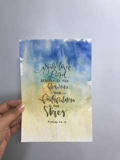 Calligraphy Cards (A5)