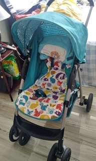 Baby Stroller (BlueGreen)