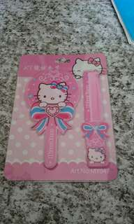 Hello kitty comb and mirror set..
