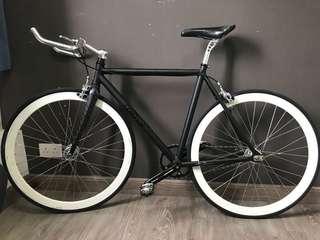 Fixed gear COlOSSI 鋁架 碳前叉 梗牙 單車