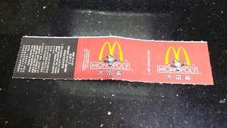 (一九九七年)麥當勞-大富翁遊戲券
