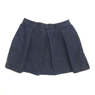 🚚 babyGap toddler Gap童裝 女童超柔軟彈性水洗牛仔色系刷白牛仔短裙 鬆緊帶休閒裙子 2-5歲