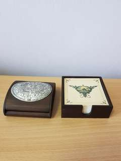 Wooden Name Card Holder & Note Holder Set  from SIA