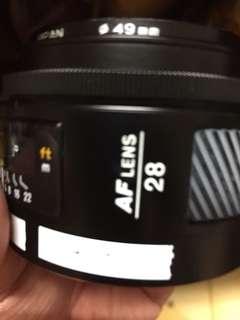 🚚 Minolta af 28mm for Sony a 鏡頭 廣角 定焦