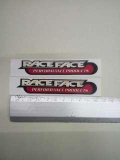 Raceface decals / stickers
