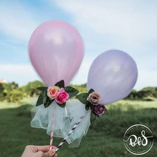 Mother's Day/ Wedding: 5-inch Mini Personalised Balloon/ Bubble Pop/ Cake Topper/ Party Decorations