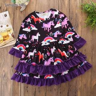 Ins popular design unicorn dress(preorder)