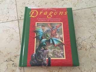 Step inside 3d book dragon
