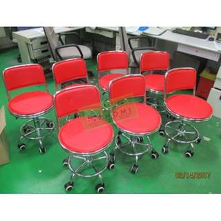 RED BAR STOOL DRAFTING CHAIRS  TELLERS CHAIRS--KHOMI