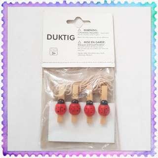 Duktig Ladybug clips Cute Ikea art craft polaroid photo decoration accessories