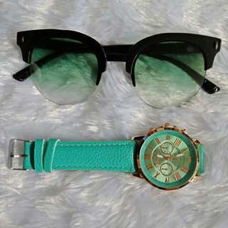 Stylish Wrist Watch with Sunglass