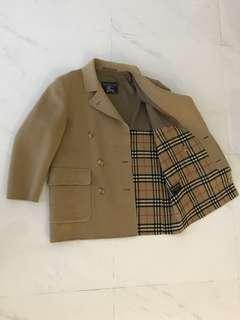 Auth Burberry cashmere men's jacket 男裝高級羊絨駝色外套