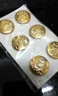 (仿古)鍍金皇家徽號金鈕扣